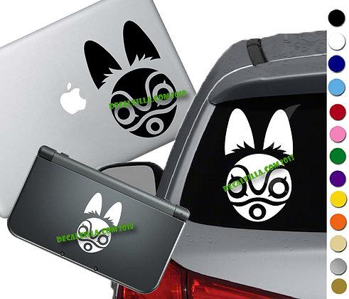 Princess Mononoke San's Mask - Vinyl Decal Sticker For cars, laptops, and more!