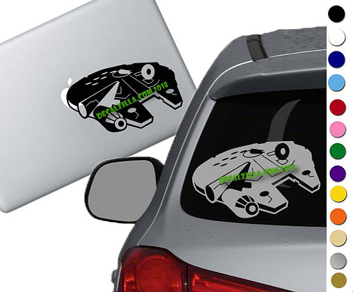 Star Wars - Millennium Falcon - Vinyl Decal Sticker - For cars and more!