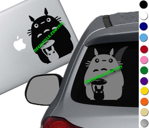 My Neighbor Totoro Silhouette - Vinyl Decal Sticker For cars, laptops, and more!