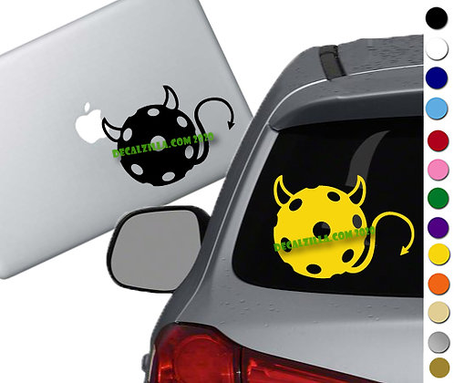 Pickleball Devil - Vinyl Decal Sticker - For cars, golf carts, laptops and more!