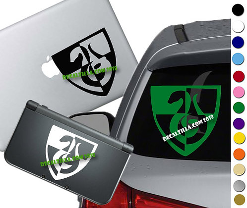 Harry Potter Slytherin Crest- Vinyl Decal Sticker For cars, laptops, and more!