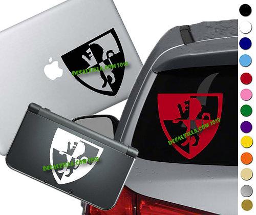 Harry Potter Gryffindor Crest- Vinyl Decal Sticker For cars, laptops, and more!