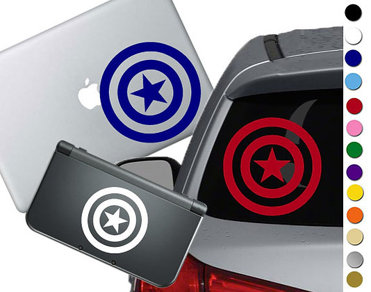 Captain America Shield - Vinyl Decal Sticker For cars, laptops, and more!