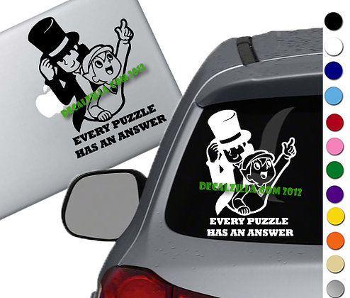 Professor Layton and Luke - Vinyl Decal Sticker - For cars, laptops and more!
