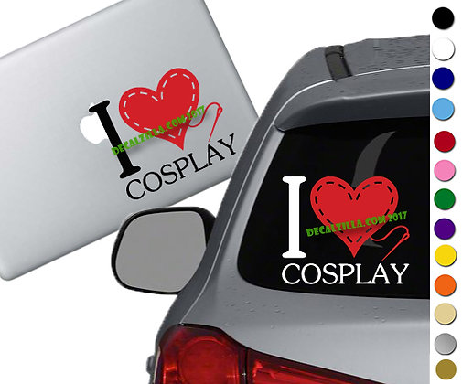 I love Cosplay - Vinyl Decal Sticker - For cars, laptops, and more!