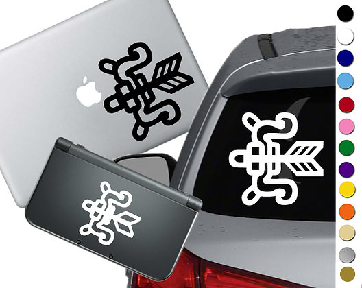 Monster Hunter Weapon- Hunters Bow - Vinyl Decal Sticker For cars and more!