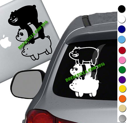 We Bare Bears - Vinyl Decal Sticker - For cars, laptops, and more!