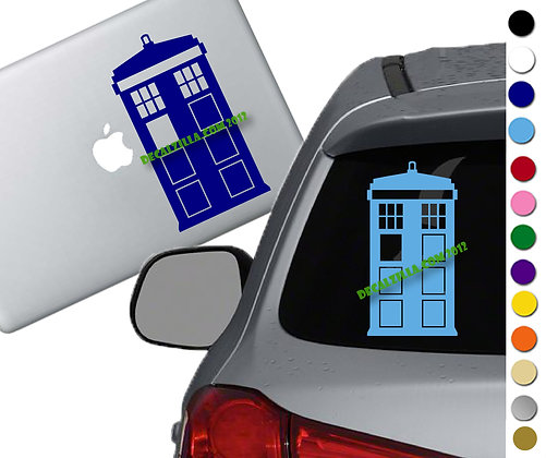 Dr. Who - Tardis - Vinyl Decal Sticker - For cars, laptops and more!
