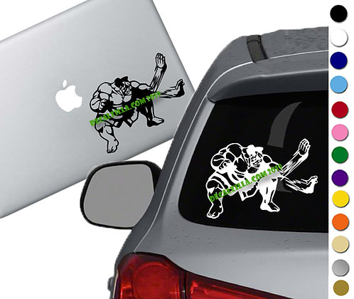 Street Fighter - E Honda- Vinyl Decal Sticker - For cars, laptops, and more!