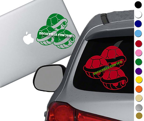 Mario Kart Shells - Vinyl Decal Sticker - For cars, laptops, and more!