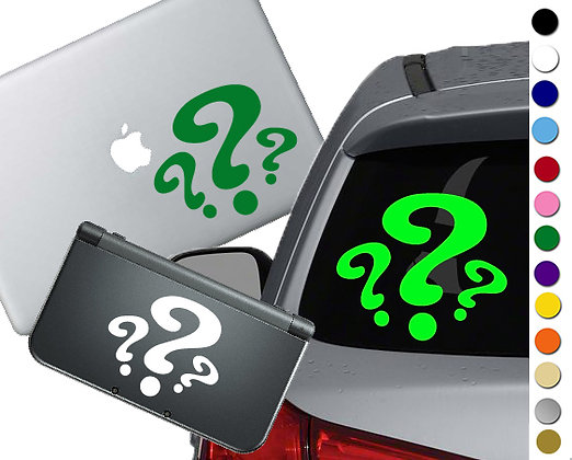 Batman- The Riddler Symbol - Vinyl Decal Sticker For cars, laptops, and more!