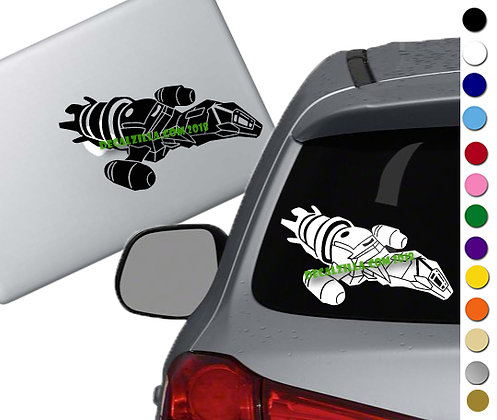 Firefly- Serenity Ship - Vinyl Decal Sticker - For cars, laptops and more!