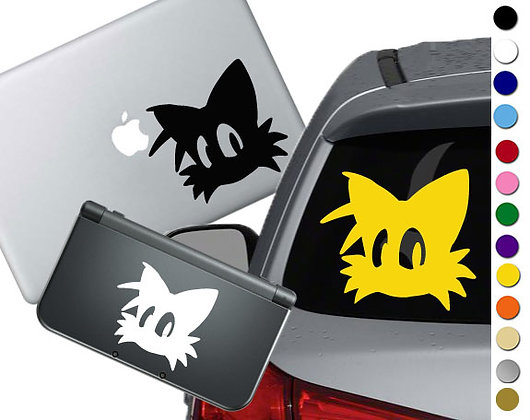 Sonic - Tails - Vinyl Decal Sticker For cars, laptops, and more!