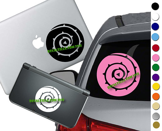 Steven Universe Rose's Shield- Vinyl Decal Sticker For cars, laptops, and more!