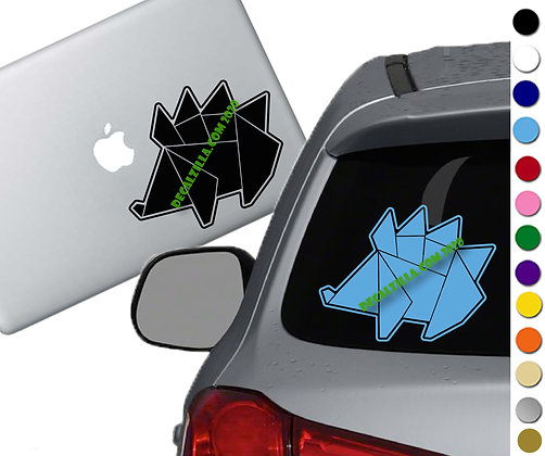Origami Hedgehog - Vinyl Decal Sticker -For cars, laptops, and more!