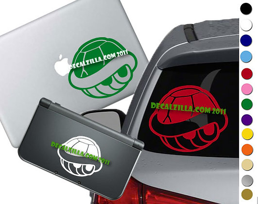 """Sale! 1.5"""" Red or Green Shell -Mini Vinyl Decal Sticker For laptops and more!"""