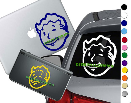 Fallout Vault Boy Head- Vinyl Decal Sticker For cars, laptops, and more!