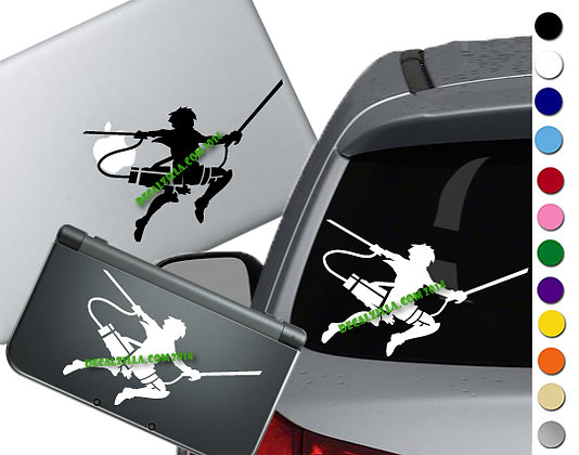 Anime Attack Soldier - Vinyl Decal Sticker - For cars, laptops and more!