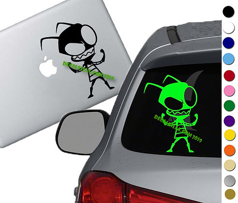 Invader Zim -Zim - Vinyl Decal Sticker - For cars, laptops, and more!