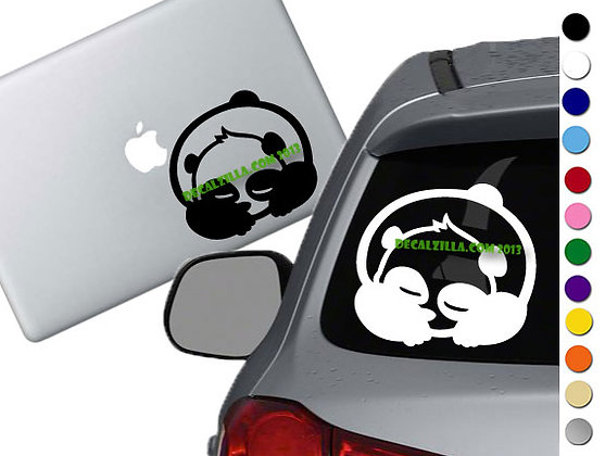 Panda -Sleeping - Vinyl Decal Sticker - For cars, laptops, and more!
