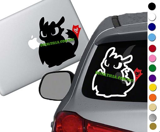 How to Train your Dragon- Toothless- Red Tail - Vinyl Decal - For cars and more!