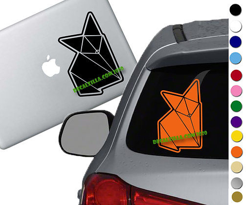 Origami fox - Vinyl Decal Sticker - For cars, laptops, and more!