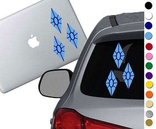 My Little Pony - Rarity Cutie Mark - Vinyl Decal Sticker - For cars and  laptops