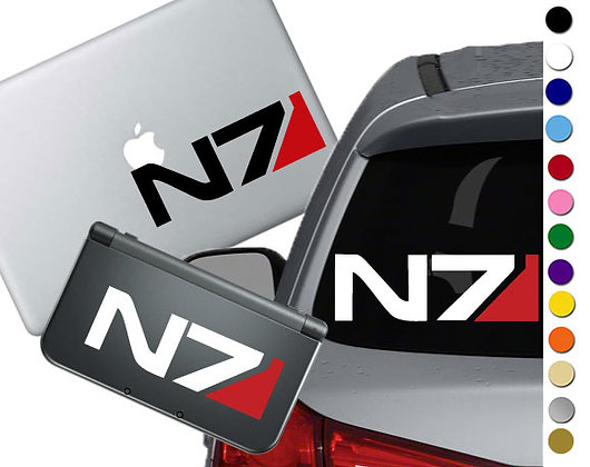 Mass Effect - N7 - Vinyl Decal Sticker For cars, laptops, and more!