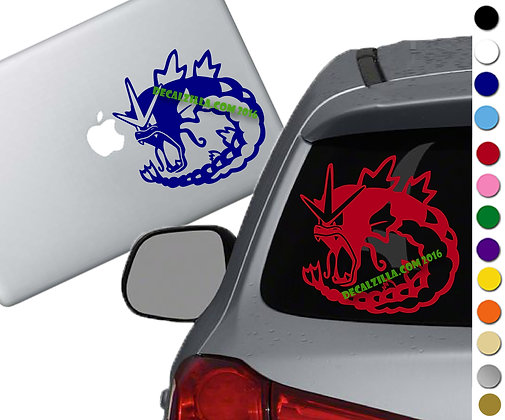 Pokemon - Gyarados - Vinyl Decal Sticker - For cars, laptops, and more!