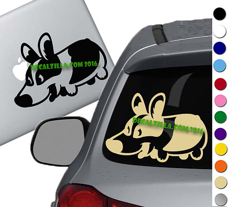Dog- Corgi - Vinyl Decal Sticker - For cars, laptops and more!