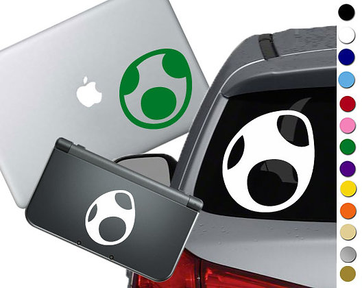 Yoshi Egg- Vinyl Decal Sticker For cars, laptops, and more!