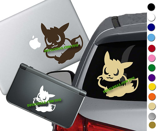 Pokemon - Eevee - Vinyl Decal Sticker For cars, laptops, and more!