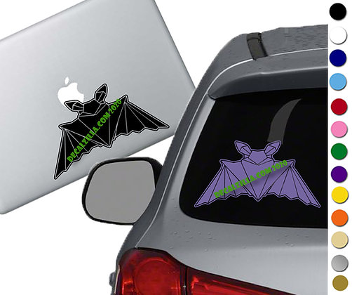 Origami Bat - Vinyl Decal Sticker - For cars, laptops, and more!