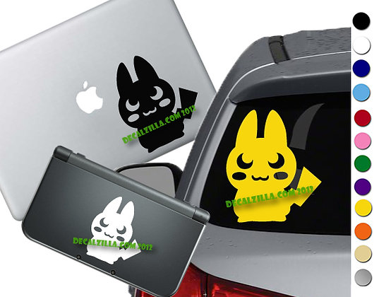 Sale! Pokemon - Pikachu Silhouette - Vinyl Decal Sticker For cars, and more!