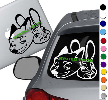 Sale! Zootopia -Vinyl Decal Sticker For cars, laptops, and more!