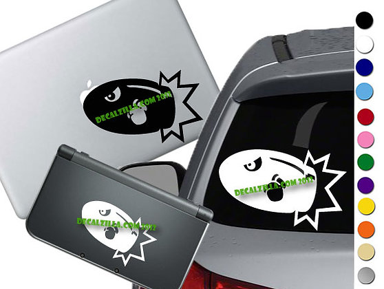 "Sale! 1.5"" Bullet Bill  -Mini Vinyl Decal Sticker For laptops and more!"
