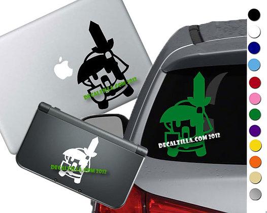 Legend of Zelda Link Mini- Vinyl Decal Sticker For cars, laptops, and more!
