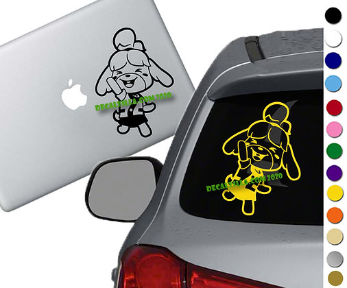 Animal Crossing - Isabelle - Vinyl Decal Sticker - For cars, laptops and more!