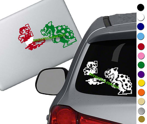 Mario and Bowser - Vinyl Decal Sticker - For cars, laptops, and more!