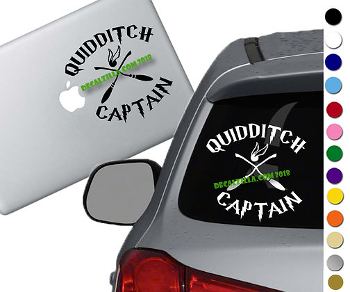 Harry Potter - Quidditch Captain - Vinyl Decal Sticker - For cars and more!
