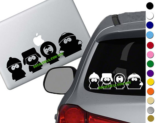 South Park Boys - Vinyl Decal Sticker - For cars, laptops, and more!