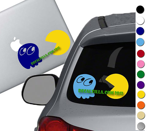 Pac Man - Vinyl Decal Sticker - For cars, laptops, and more!