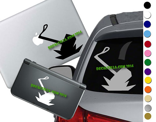 "Sale! 1.5"" Thor's Hammer -Mini Vinyl Decal Sticker For cars, laptops, and more!"