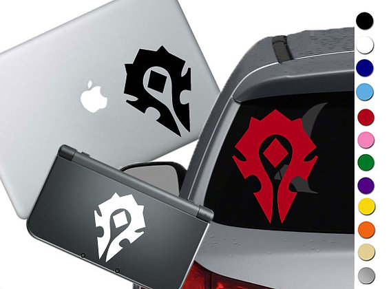 World of War Craft Horde- Vinyl Decal Sticker For cars, laptops, and more!