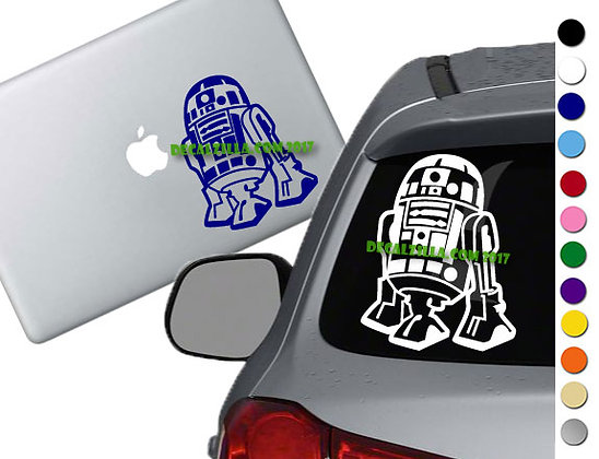 Star Wars - R2D2 - Vinyl Decal Sticker - For cars, laptops and more!