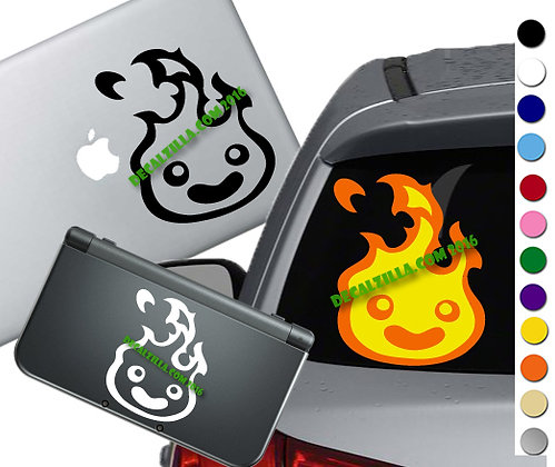 Howls Moving Castle- Calcifer Happy - Vinyl Decal Sticker - For cars and more!