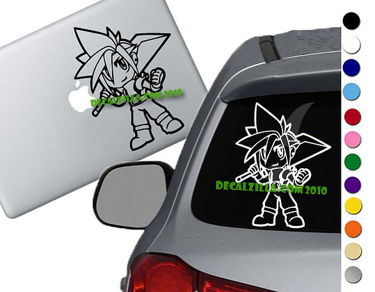 Final Fantasy 7- Cloud Chibi - Vinyl Decal Sticker - For cars, laptops and more!