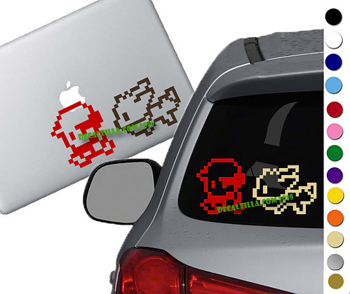 Pokemon - Red and Eevee - Vinyl Decal Sticker For cars, laptops, and more!