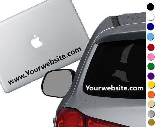 Custom Website - Vinyl Decal Sticker - For cars, laptops, and more!