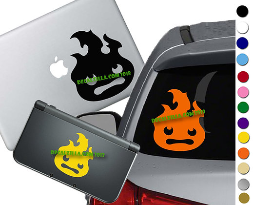 Howls Moving Castle Calcifer - Vinyl Decal Sticker  For cars, laptops, and more!
